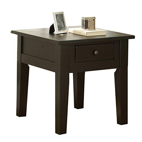 - Steve Silver Company Liberty End Table, Antique Black, 23