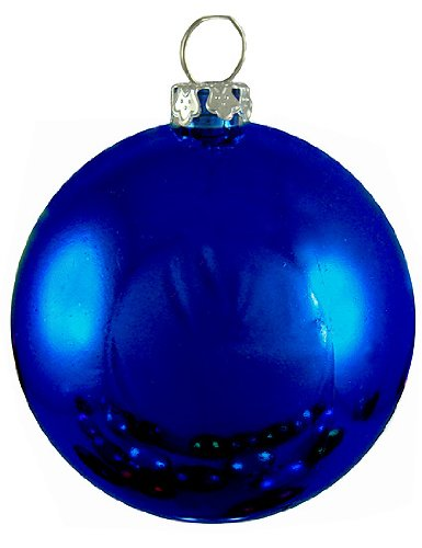 hub shiny midnight blue commercial shatterproof christmas ball ornament 325 - Blue Christmas Balls