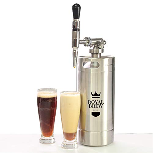 Royal Brew Nitro Cold Brew Coffee Maker Home Keg Kit System (Stainless Steel 128 oz)