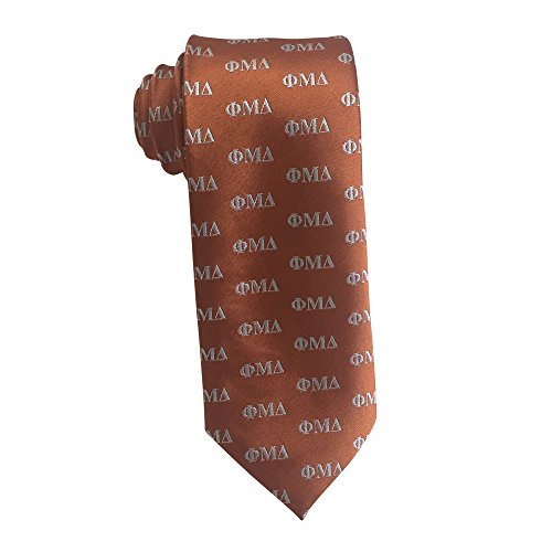 Phi Mu Delta Fraternity Necktie Tie Greek Formal Occasion Standard Length Width Hanky Pocket Square (Letter Necktie) - Phi Mu Fraternity