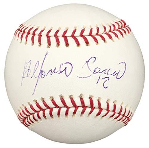 Alfonso Soriano Yankees Signed MLB Baseball w/Free Ball Cube Fanatics+MLB