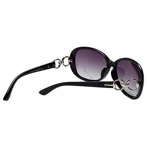 de Black Lunettes Lunettes BLDEN Casual Mode Polarisées de Oval Stylish Protection 400 Soleil Femmes Soleil Élégant UV zwqapwH