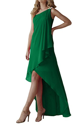 Ein Partykleid Abendkleid Chiffon Traeger Dunkelgruen Damen Missdressy Lang Lo Falte Hi A0SqR