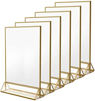 NIUBEE Gold Sign Holder product image