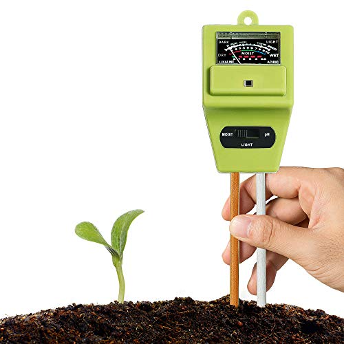 - XLUX Soil Tester Meter, 3-in-1 Test Kit for Moisture, Light & pH, for Home and Garden, Lawn, Farm, Plants, Herbs & Gardening Tools, Indoor/Outdoors Plant Care Soil Tester