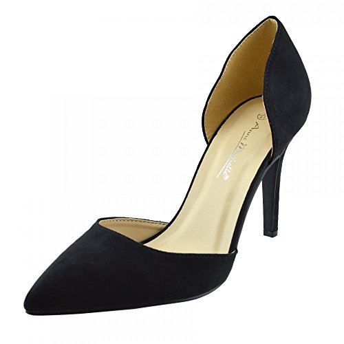 Stilletto Punta Footwear Kick Punta A Scarpe Nero Womens Festa Tacco frYdfEAwWq
