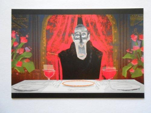 Ratatouille - Food Critic Anton Ego - Color Study by Harley Jessup - Digital - 2005 - Disney Enterprises Inc / Pixar Animation Studios - Postcard Print ()