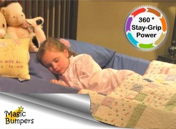 Magic Bumpers Child Bed Safety Guard Rail 42 Inch - One Piece Design
