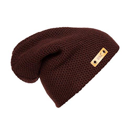 Los caliente mujeres hombres Brown Sombreros tapas sombreros marrón beanie invierno tejidos Navidad Sombreros sombreros MASTER Halloween qp4vg