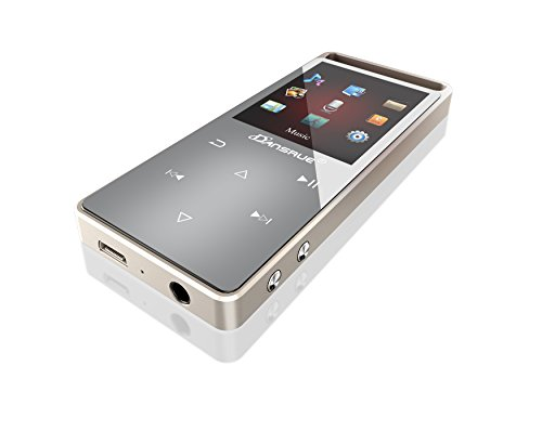 MP3 Music Player with FM Radio, 2017 Dansrue Lossless Movie MP3 Player Metal Touch Screen for Running (Tarnish(Non-Bluetooth))