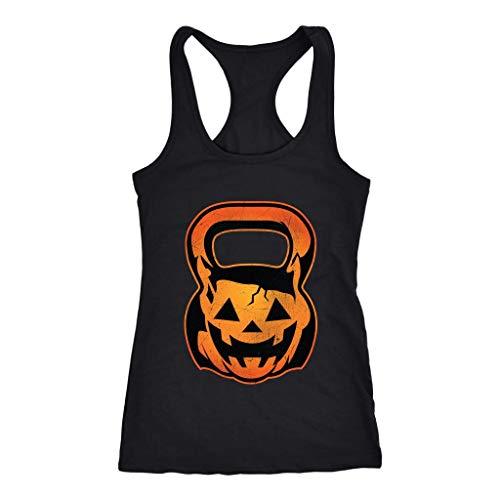 Pumpkin Kettle Bell WOD Crossfit Women's Racerback Tank Top -