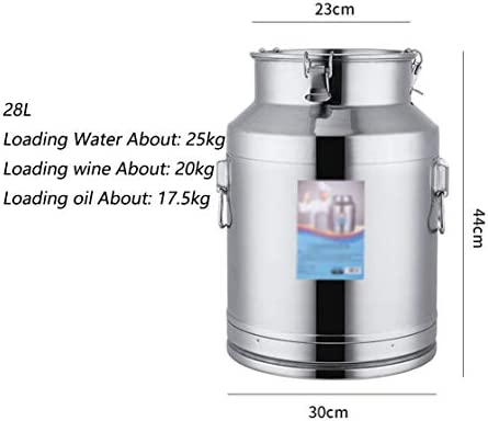304ステンレス鋼密閉されバレル、厚くなった茶葉、ミルクの輸送樽、発酵ワイン樽、食用油貯蔵樽、良好なシール性能を28-76L (Color : Matte silver, Size : 58L)