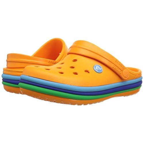 Zuecos Unisex Ni/ños Crocs Crocband Rainbow Glitter Clog Kids