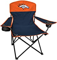 Rawlings NFL XL Lineman Tailgate and Camping Folding Chair, Denver Broncos