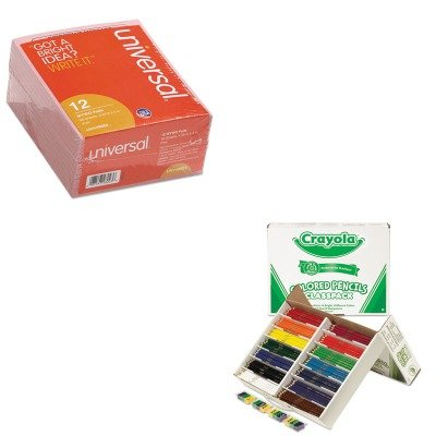 KITCYO688462UNV48023 - Value Kit - Crayola Colored Woodcase Pencil Classpack (CYO688462) and Universal Important Message Pink Pads (UNV48023)
