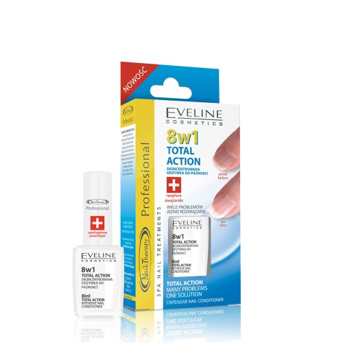 Eveline Nail Therapy Total Action Nail Conditioner 8 In 1 12ml
