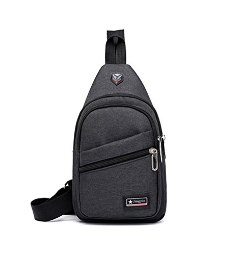 Daypack With Men Cloth Women Mingmo Casual Packs For Black Lightweight Hiking Shoulder Triangle Backpack Sling Chest Travel Hole Bag Crossbody Headphone Oxford CwnqFRgC