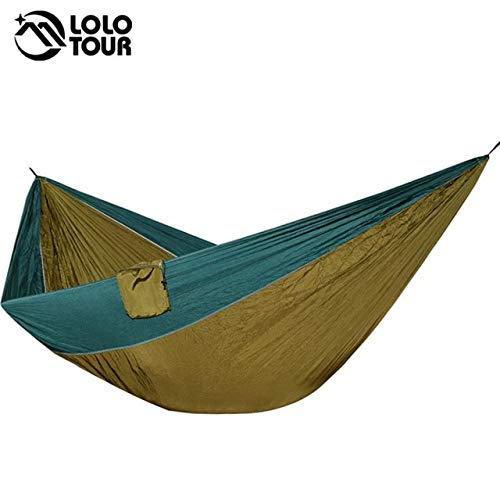 (T-U-MARK 2-3 People Outdoor Camping Hammock Tent King Size Hammock Green Swing Hamac Hanging Chair Sleeping Bed Hamak 320200cm)