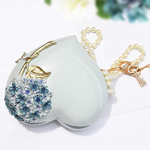 LVV Home Resin Love Hydrangea Jewelry Box/Creative Pastoral Style Ring Storage Box Decoration Birthday Gift by Hotin (Image #4)