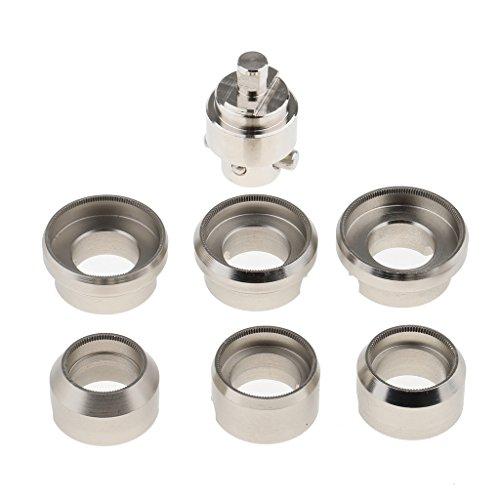 Homyl Premium Watch Case Back Opener 7 peças conjunto de relógios de aço inoxidável #5538 acessórios de ferramenta de reparo