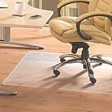 Cleartex Advantagemat, PVC Chair Mat for Hard Floors, Rectangular, Clear, 48'' x 79'' (FR1220025EV)