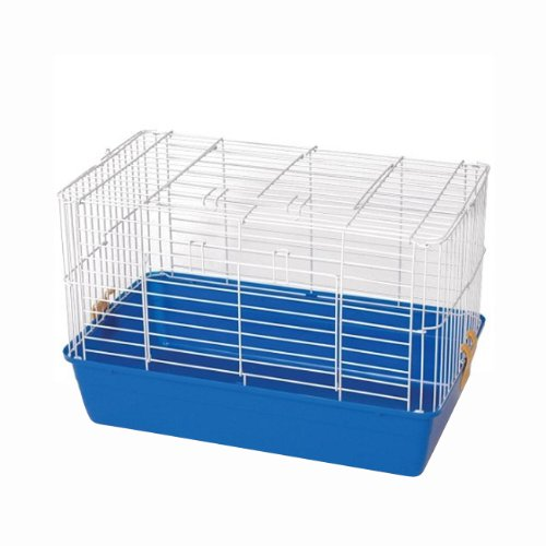 (Prevue Hendryx Small Animal White Mesh Tubby Cage 521 With Blue Base)