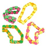 Wacky Tracks Plastic Fidgets Snap and Click Puzzles Bulk Set of 4 10.75