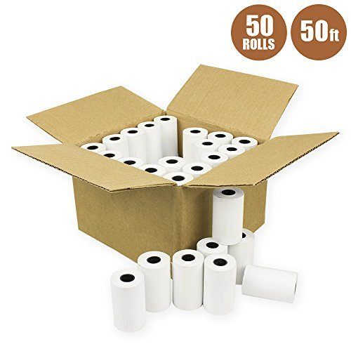 E-Tech 2 1/4'' X 50' Thermal Credit Card Paper 50 Rolls/Box for Ingenico, Verifone, First Data, Nurit, Omni, Way System, and Hypercom by E-tech