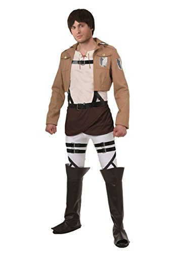 Fun Costumes Mens Attack On Titan Eren Costume Large