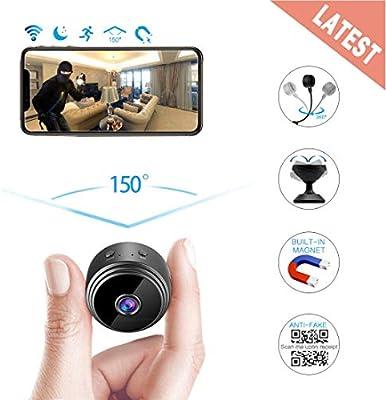 Mini cámaras espía, cámara espía inalámbrica Hidden WiFi, cámara ...