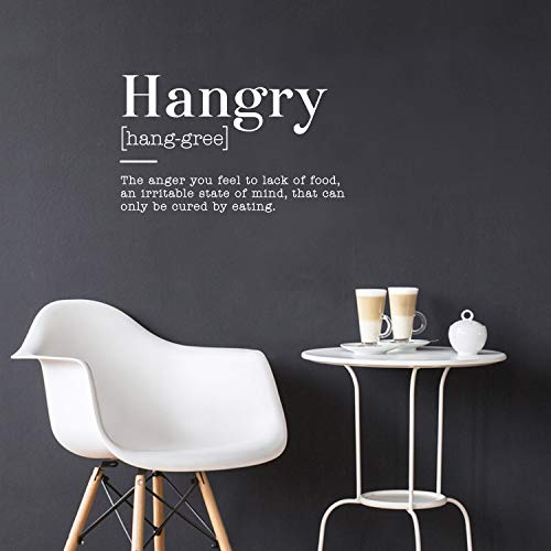 Vinyl Art Wall Decal - Hangry The Anger You Feel to Lack of Food an Irritable State of Mind - 22