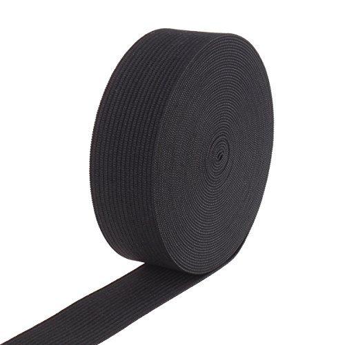 1-inch By 10 Yards Black Knit Heavy Stretch High Elasticity Elastic Band