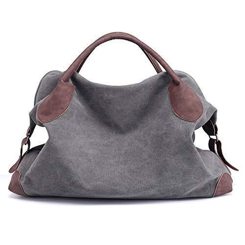 Beach Aqws Canvas Donna Messenger Casual Retro Bag Abbigliamento Tote multifunzione Tote Khaki Shopping Donne Bag Shoulder SRPxRF