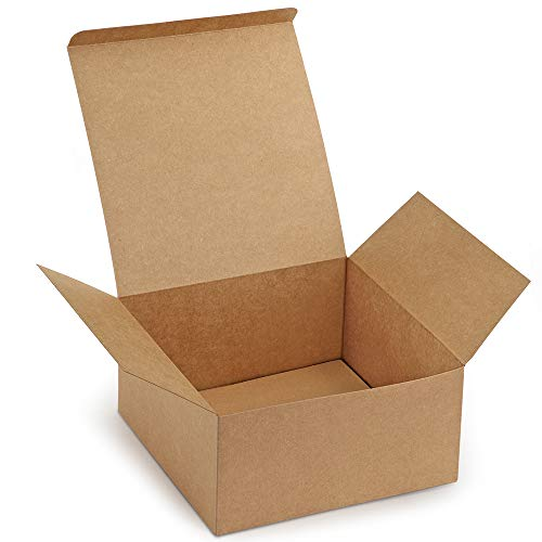 ValBox Premium Gift Boxes 12 Pack 8 x 8 x 4 Brown Paper Gift Boxes with Lids for Gifts, Crafting Cupcake Boxes, Easy Assemble ()