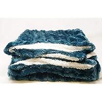 Luxury Faux Fur Double-Woven Throw Blanket Double Side Soft Microfiber by stteil