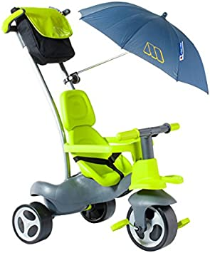 Moltó-Urban Trike Easy Control Verde con Ruedas de Goma, Bolsa y sombrilla, Color 17202