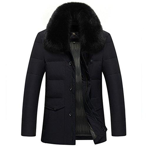 Pelliccia Collo inverno Hhy Lungo Calda Di Di Nera Spessore Comfort Esterno Uomo Xxl Il vxxqwBAg