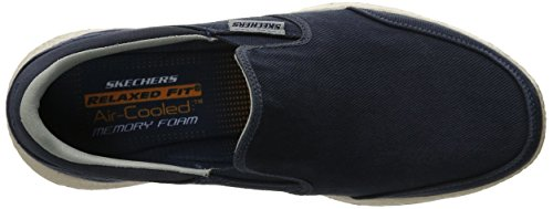 Skechers Usa Van Het Man Bursen Ellken Slip-on Loafer Marine / Wit