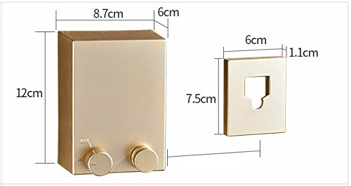 Do4U Retractable Clothesline Wall Mounted Indoor Outdoor Clothes Dryer with 4.2m Steel Clothesline Rope Golden, Drill installation Slip-resistant Balcony Clothing Rope Laundry Rack Clothes Hanger