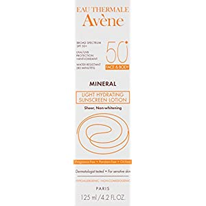 Eau Thermale Avène Mineral Light SPF 50 Plus Hydrating Sunscreen Lotion, 4.2 fl. oz.