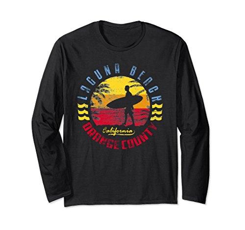 Laguna Long Sleeve (Unisex Laguna Beach Long Sleeve Shirt   Surfing T-Shirt 2XL Black)