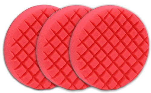 3 Pack Cobra Cross Groove 6.5 Inch Red LSP Finishing Pads