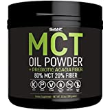 MCT Oil Powder with Prebiotic Acacia Fiber - 100% Pure Medium Chain Triglycerides - Designed for Ketogenic Diet to Control Appetite, Boost Ketone Production and Clean Energy. 30 Servings - Unflavored