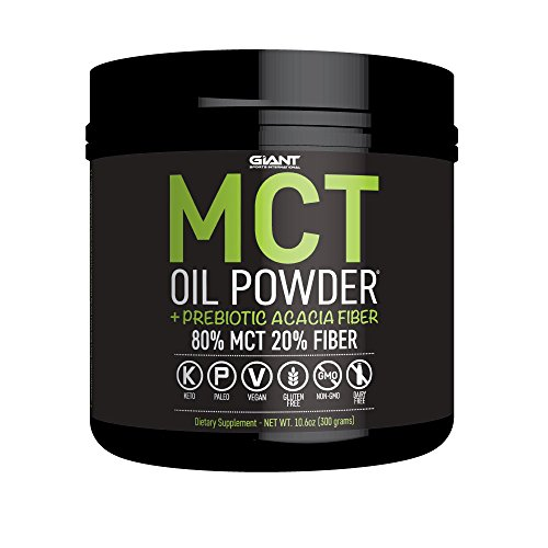 MCT Oil Powder with Prebiotic Acacia Fiber - 100% Pure Medium Chain Triglycerides - Designed for Ketogenic Diet to Control Appetite, Boost Ketone Production and Supply Clean Energy. 30 Servings – Un