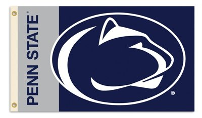 Penn State Banners - NCAA Penn State Nittany Lions Flag with Grommets, 3 x 5-Feet