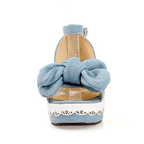 Adee - Sandalias de vestir para mujer azul claro