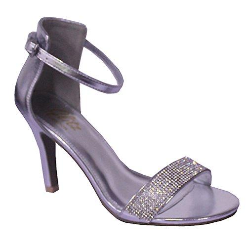 Donna Con Gorgeous Absolutely Silver Caviglia Alla Boutique Cinturino 8z6SwSxfq