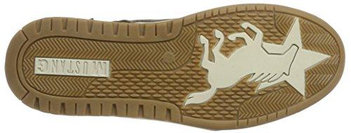 Sneaker Con Zip Mustang Marrone Medio Stivali Chukka Da Uomo