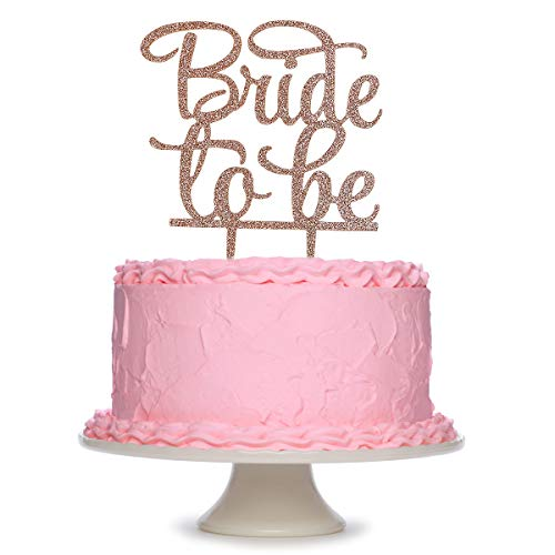 Rose Gold Bride to Be Cake Topper, Bachelorette,Bridal Shower, Engagement Party Decorations