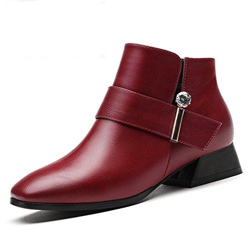 PUMPS Ladies  Heels und Short Boots,Neue Herbst-und Winter-Schuhe,Studenten Warme Stiefel B